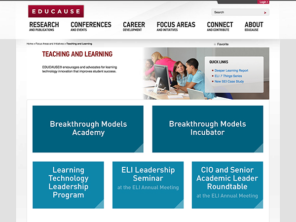 EDUCAUSE Teaching and Learning Landing Page