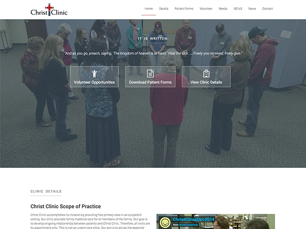 Christ Clinic Fort Collins Website