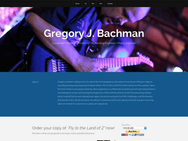 Gregory J. Bachman Website Image